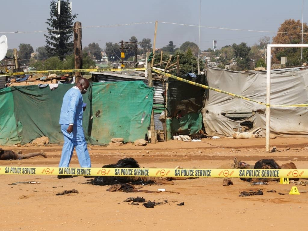 The area in Zandspruit  where eight people were killed in alleged mob justice attack.