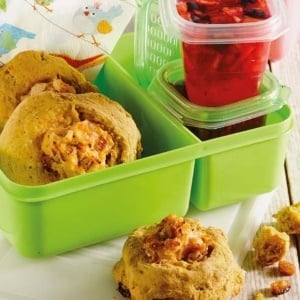 scones and fruit jelly cups