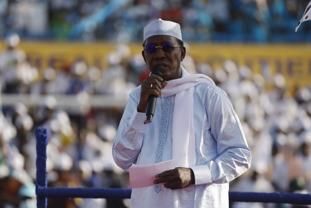 Chad's President Idriss Deby has died while visiting troops on the front line of a fight against northern rebels. (Marco LONGARI / AFP)
