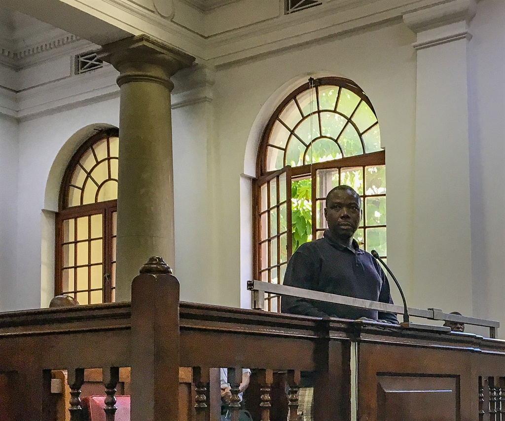 Asylum seeker Jean-Pierre Balous (39) during his court appearance on 8 charges of assault on Friday. He was released on R2 000 bail. (Jan Gerber/News24)