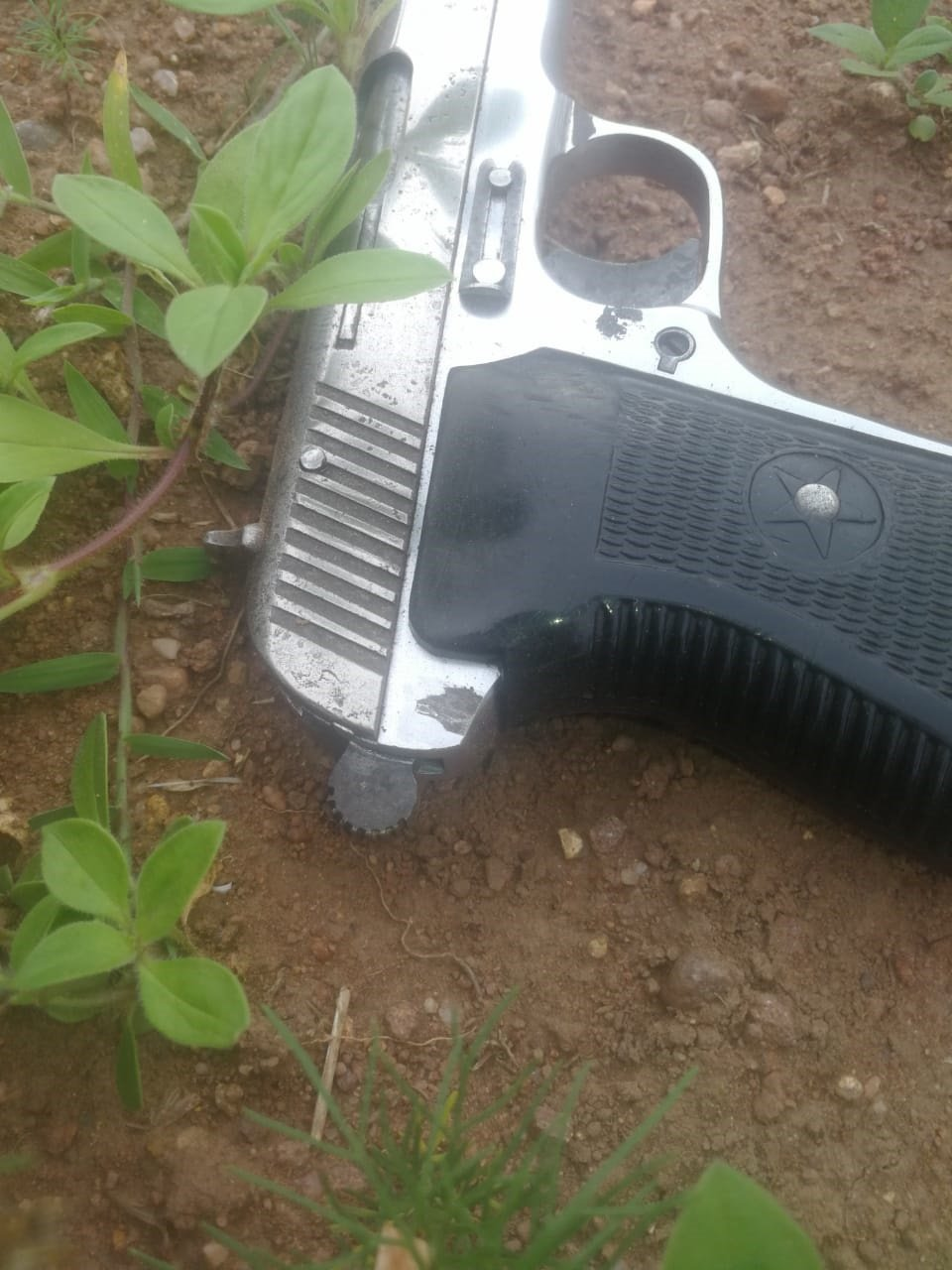 One of the recovered firearms from a fatal shoot out. (Supplied)
