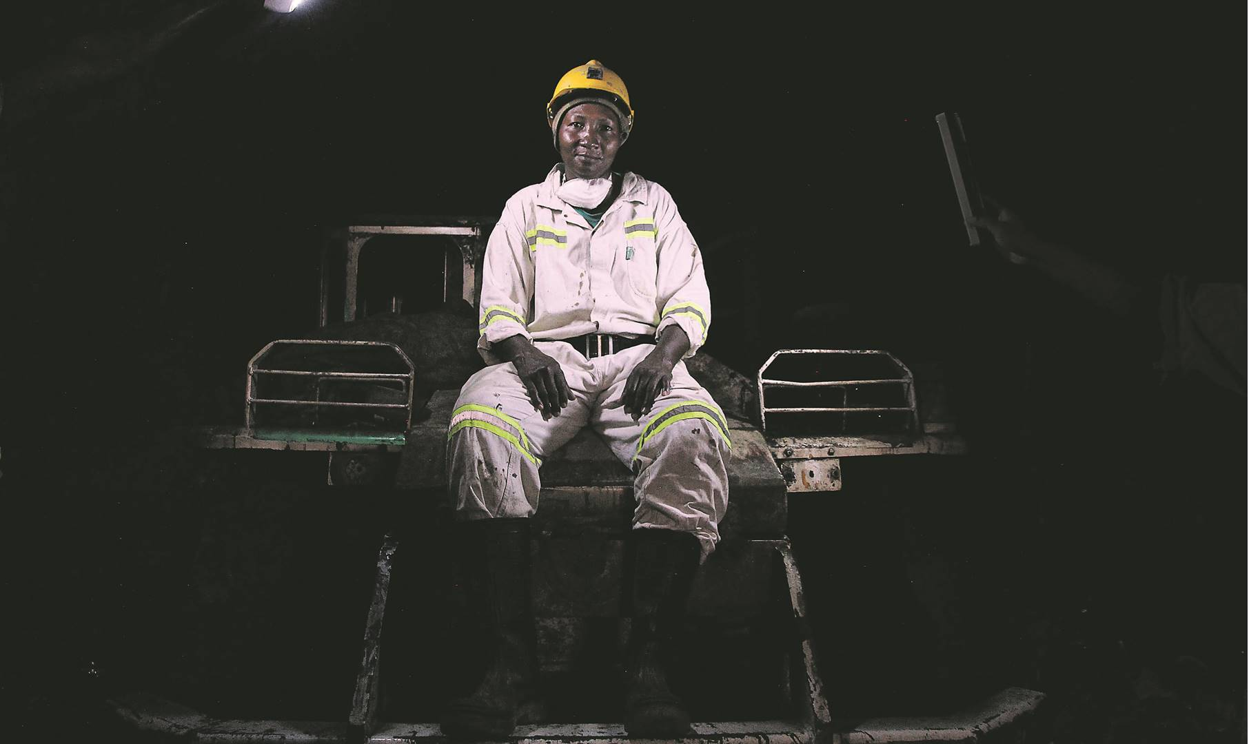 Lucky Bothma is one of the members of the team that has been trying to get to the office container that's buried in the dark and dangerous dark and dangerous underground at Lily Mine. Rosetta Msimango