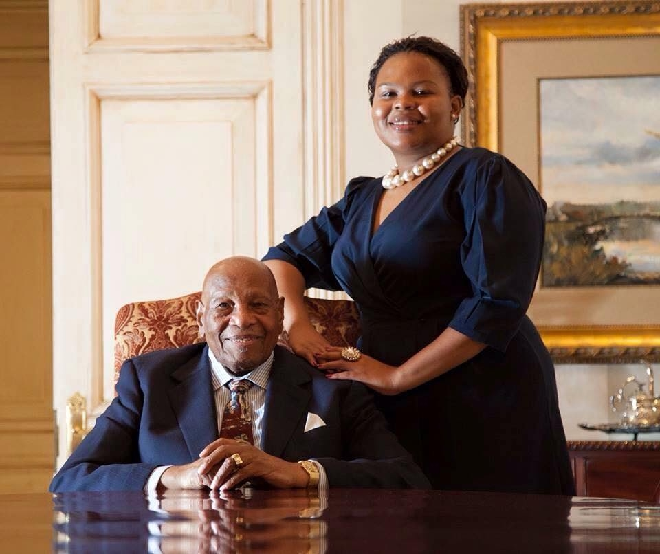 Monalisa Sam with Dr Richard Maponya. Picture: Forbes Africa