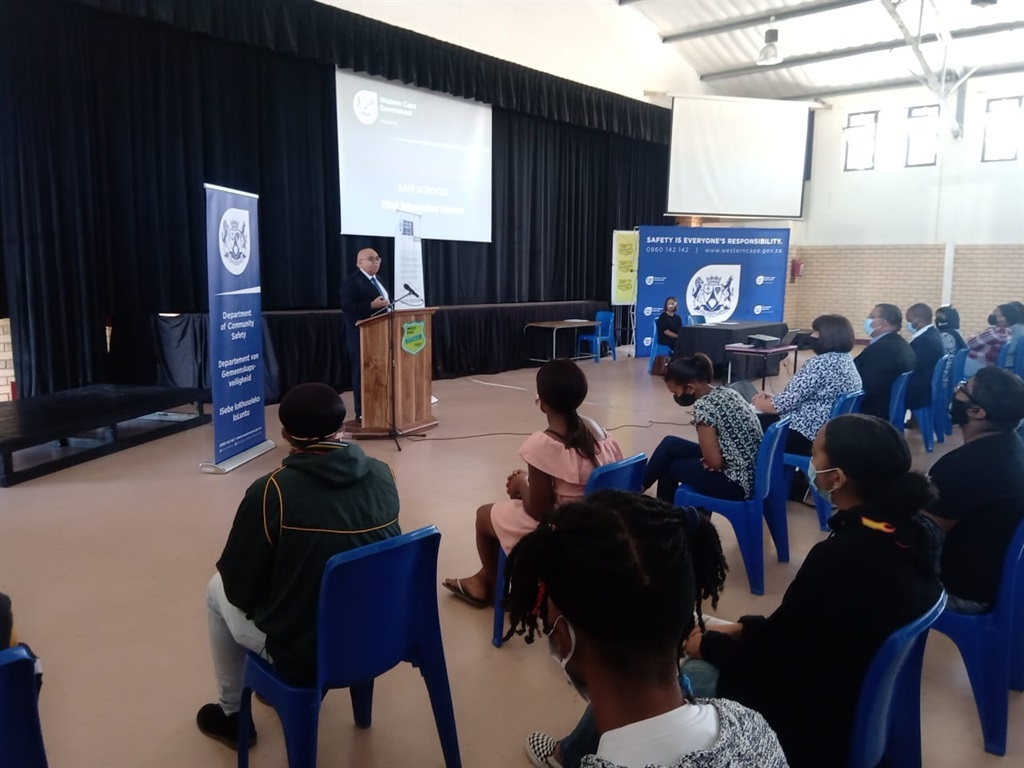 A group of Mitchell's Plain youths accompanied by teachers and principals from surrounding schools have been welcomed as youth safety ambassadors as part of the programme spearheaded by the department of community safety.