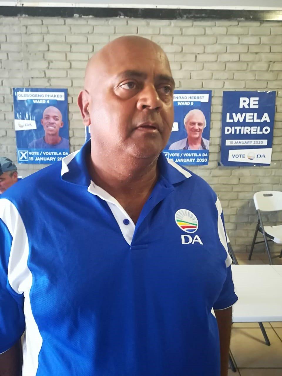 North West Provincial leader of DA Joe McGluwa. Ph