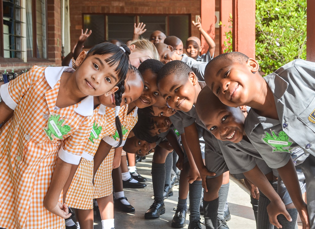 Grade 1 pupils of Scottsville Primary School were lined up yesterday, bright-eyed and ready to take on 'big school'. See more on this story on page 3.