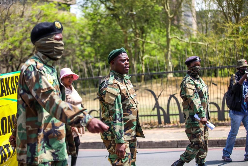 Members of Umkhonto we Sizwe Military Veterans' Association (MKMVA)