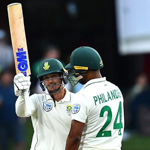 Quinton de Kock celebrates his half-century (Gallo Images)