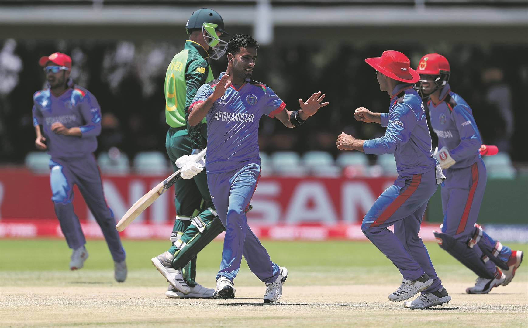 Shafiqullah Ghafari of Afghanistan scooped all the praises for his demolition of the young Proteas on Friday. Picture: Matthew Lewis / Getty Images