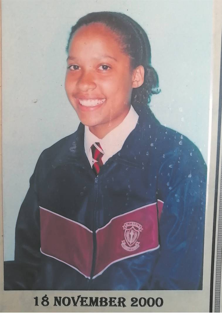 Cemelia Roberts when she was a learner in 2000.