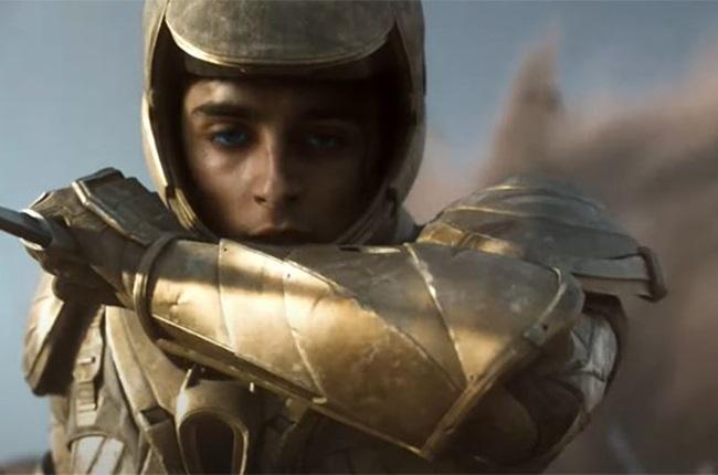Timothée Chalamet in Dune.