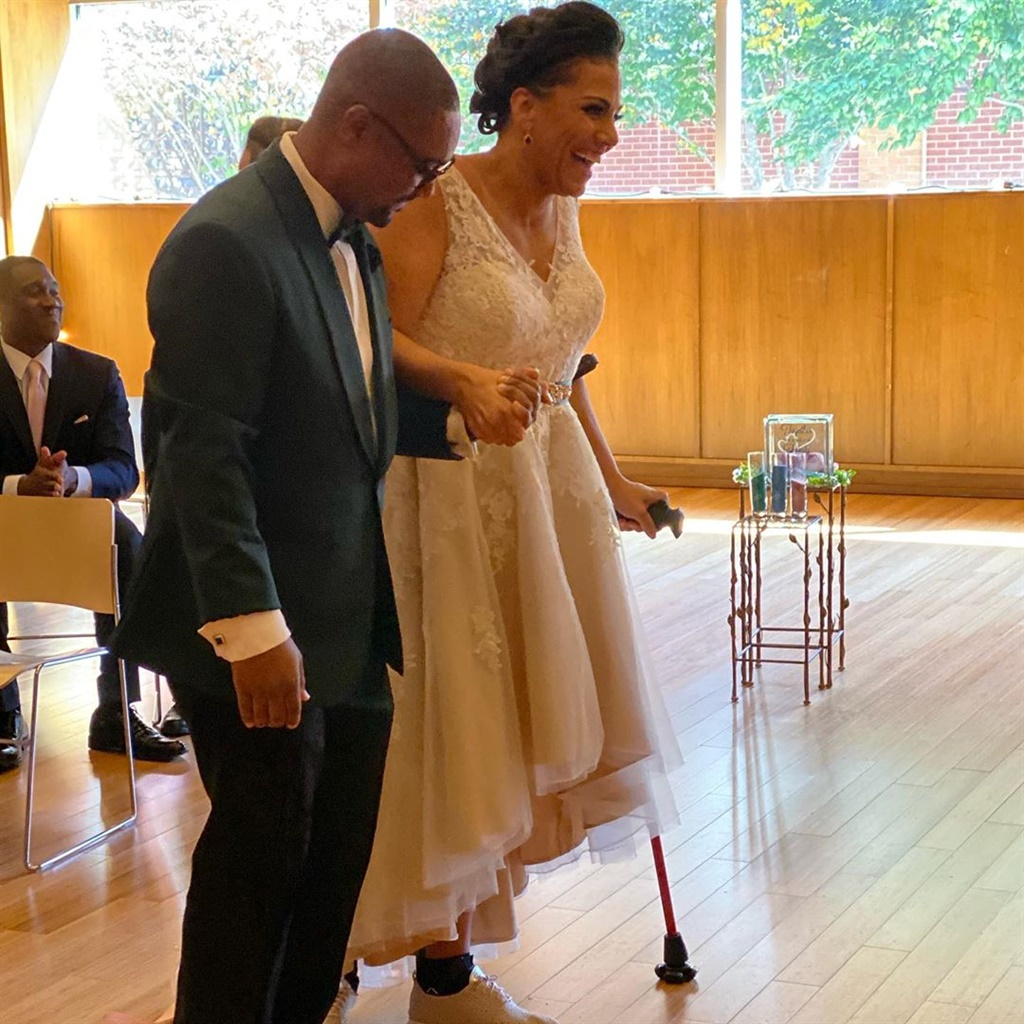 Bride told she had 3% chance of walking again defi