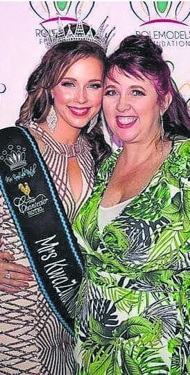 Reigning Mrs KZN Melissa Vurovecz (left) with pageant director Juanita Smit.PHOTO: supplied