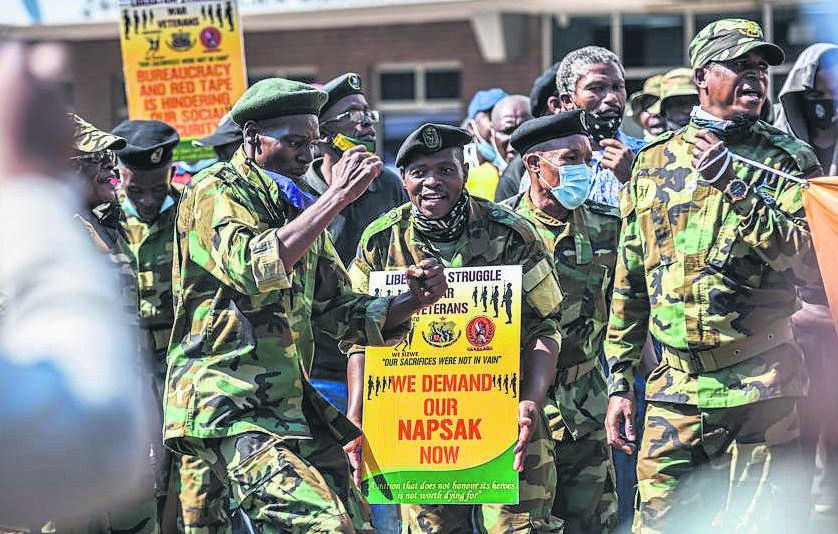 A group of people claiming to be war veterans have threatened to stop the local government elections if their demands are not met.
