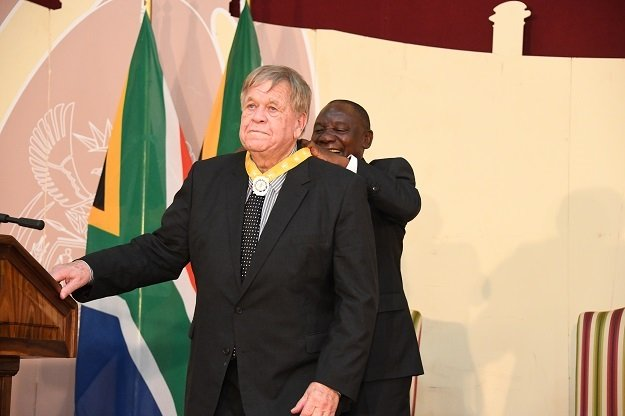 William Smith awarded the Order of the Baobab (silver) by President Cyril Ramaphosa in 2019.