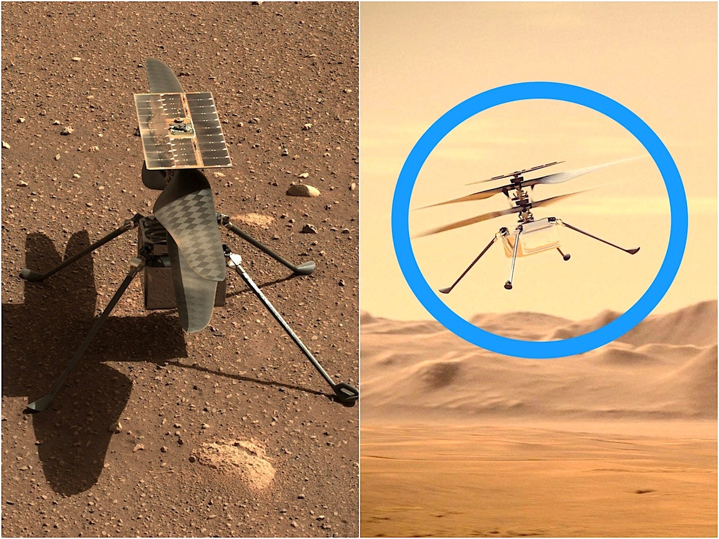 NASA's Ingenuity helicopter just flew sideways over the Martian surface in its second aerial adventure - Business Insider South Africa