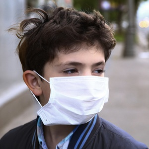 Boy with mask