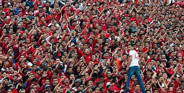 CASABLANCA, MOROCCO - FEBRUARY 24: Fans of Wydad C