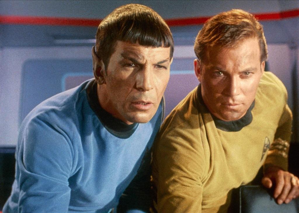 In sy ikoniese rol as Captain Kirk in Star Trek sa