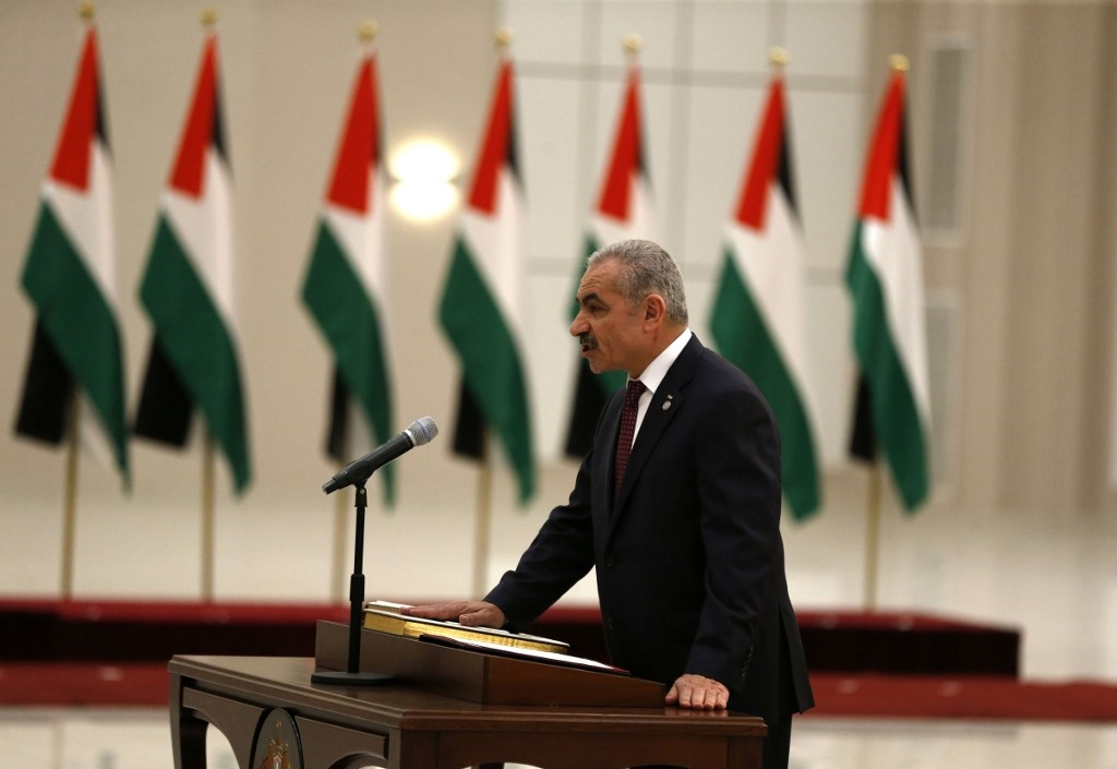 """Palestinian prime minister Mohammed Shtayyeh on Monday urged international powers to boycott US President Donald Trump's """"peace plan"""" which they see as biased towards Israel.(Abbas Momani/AFP)"""