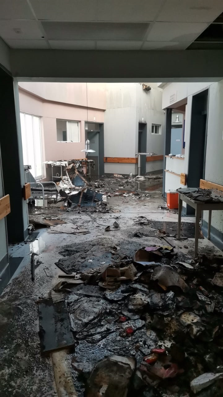 A fire at Caledon Provincial Hospital saw patients