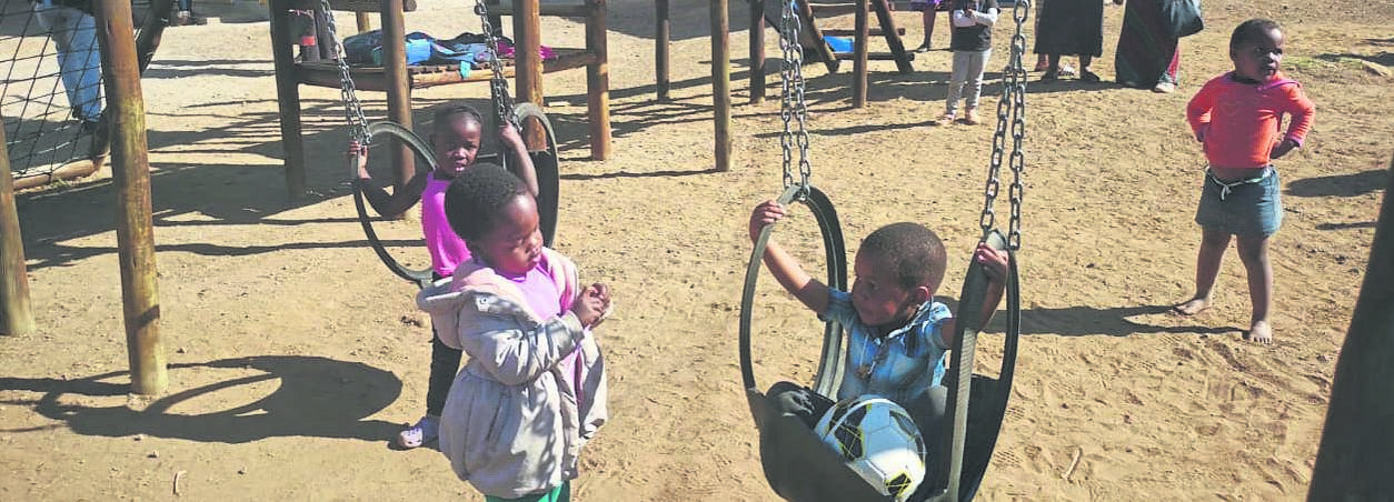photo: supplied Children play at an ECD centre in Msinga, outside Greytown.