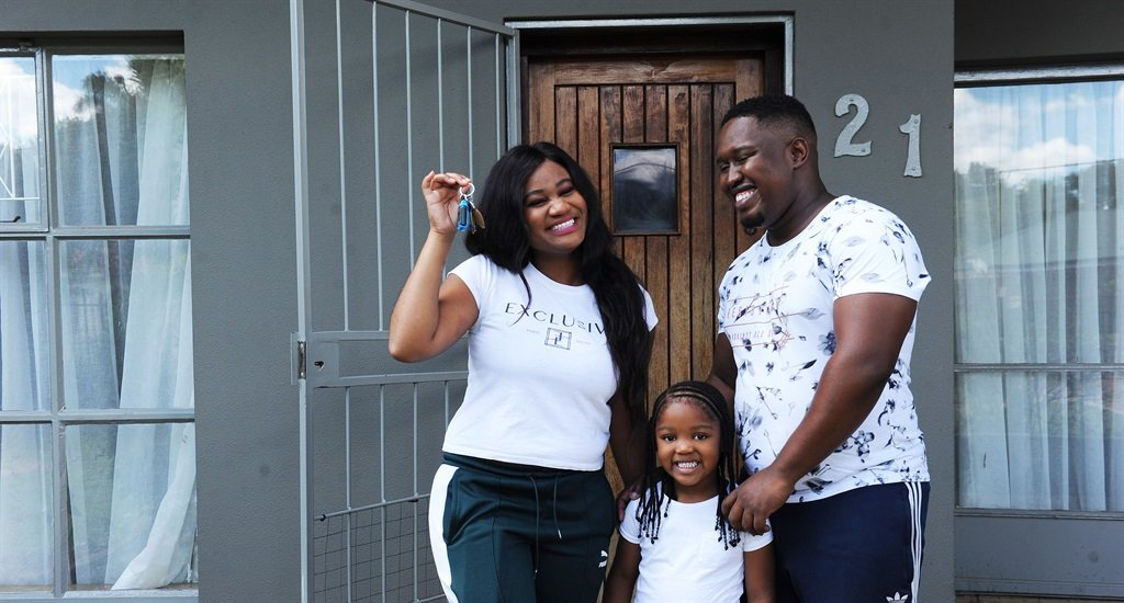 First-time home buyer Bontle with her family. Picture: Elizabeth Sejake