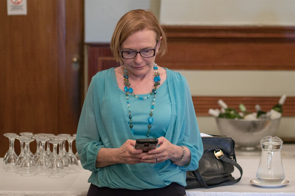 DA federal council chairperson Helen Zille shortly before her predecessor as DA leader, Tony Leon, addressed the Cape Town Press Club at Kelvin Grove on Tuesday. (Jan Gerber, News24)