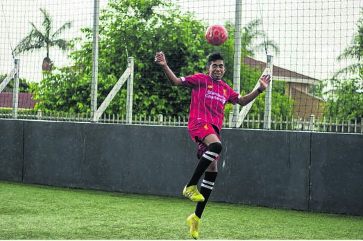 Juvae Maharaj of Carter High School has been chosen for a specialised football tour to the UK in March. PHOTO: supplied