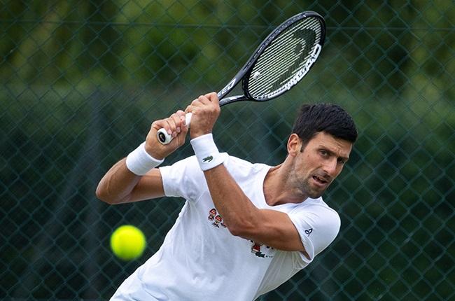 Novak Djokovic. (Photo by AELTC/Pool/Getty Images)