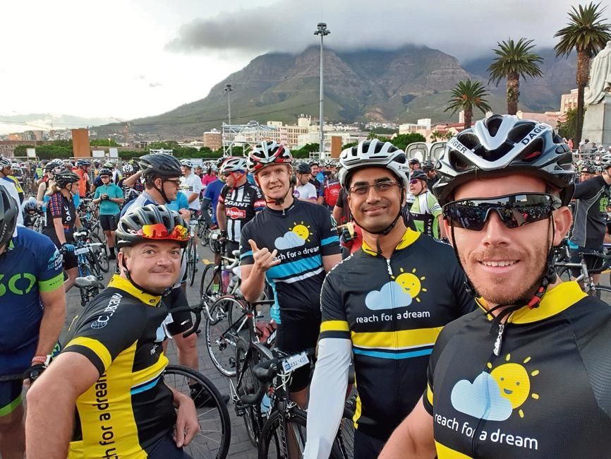 Last year's Reach for a Dream cyclists: Clint Hefer, Dylan Emmett, Dr Kishoor Pitamber and Rudy McNeil took on the Cape Town Cycle Tour to show their support for all the children fighting life threatening illness.