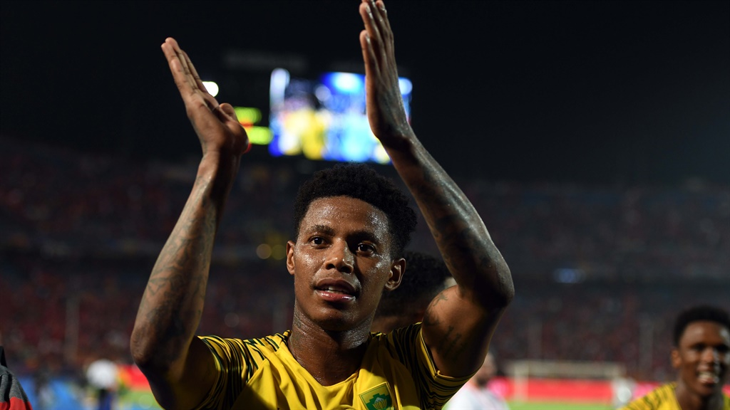 Bongani Zungu celebrates after the African Cup of Nations, last-16 match between Egypt and South Africa  in Cairo  on July 6, 2019. Picture: Ahmed Hasan/Gallo Images