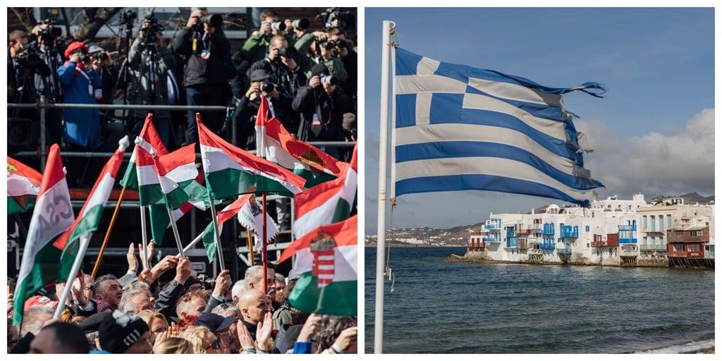 Greece, Hungary