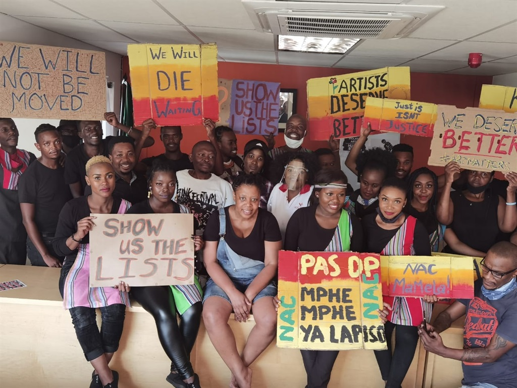 Artists occupy the National Arts Council in Newtown. Artists have occupied the office for over a month. (Thami AkaMbongo/ Facebook)