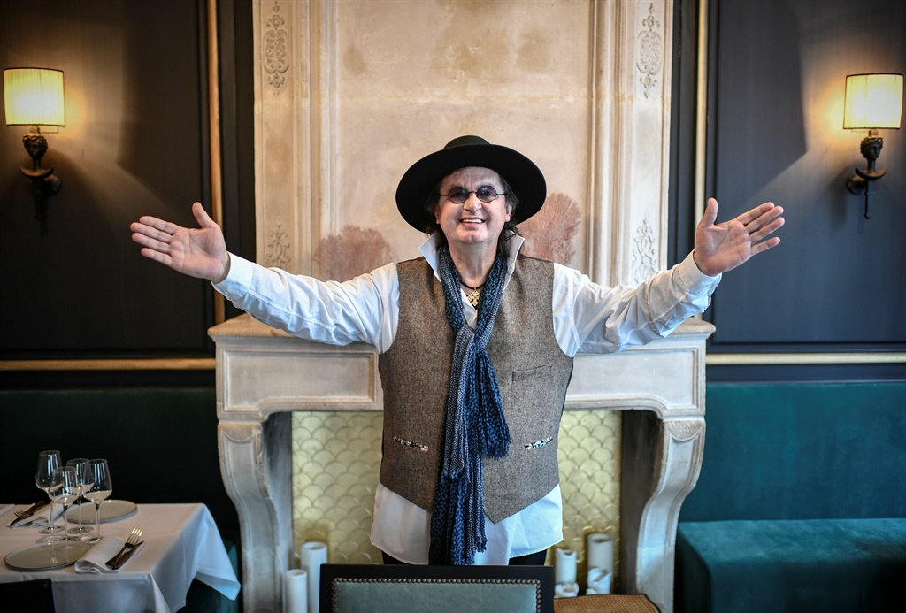 French chef Marc Veyrat poses in the restaurant ow