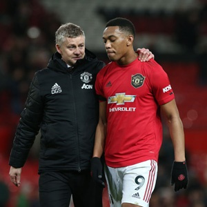 Ole Gunnar Solskjaer and Anthony Martial (Getty Images)
