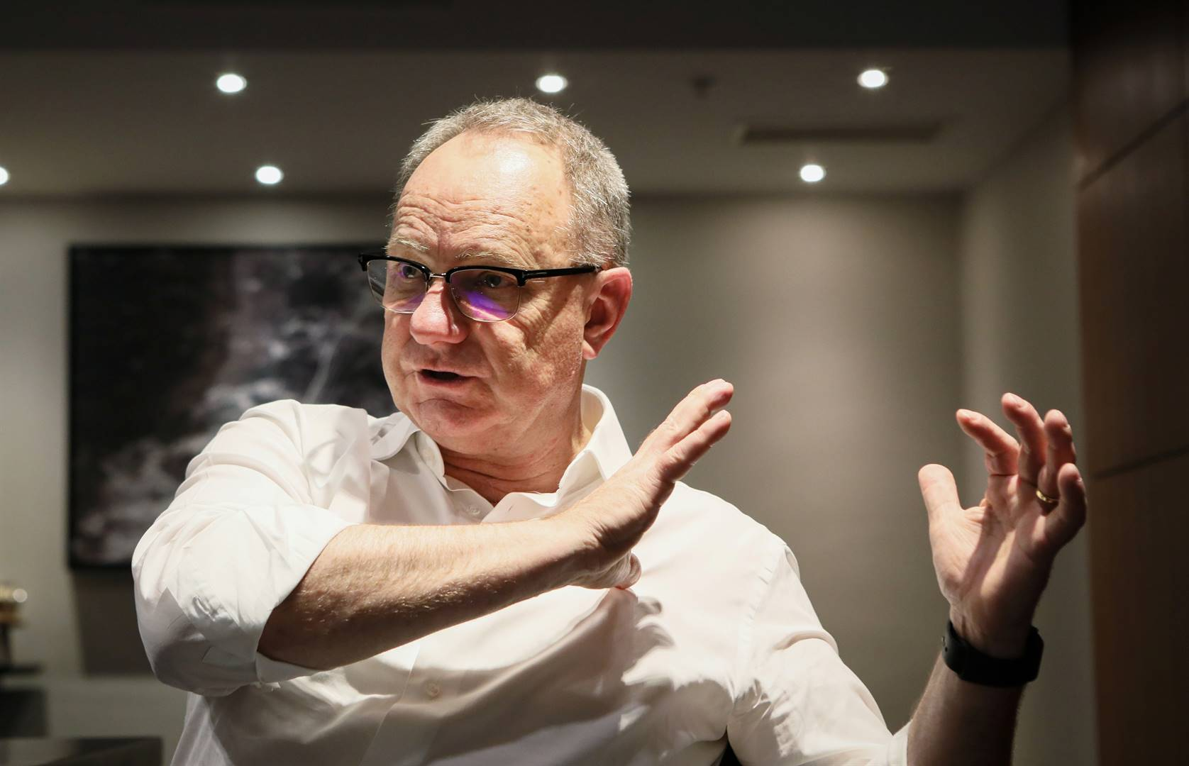 Anglo American CEO Mark Cutifani during an interview with Reuters at the Investing in African Mining Indaba conference in Cape Town. Picture: Sumaya Hisham/Reuters
