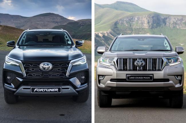 2021 Toyota Fortuner (left) vs 2021 Toyota Land Cruiser Prado