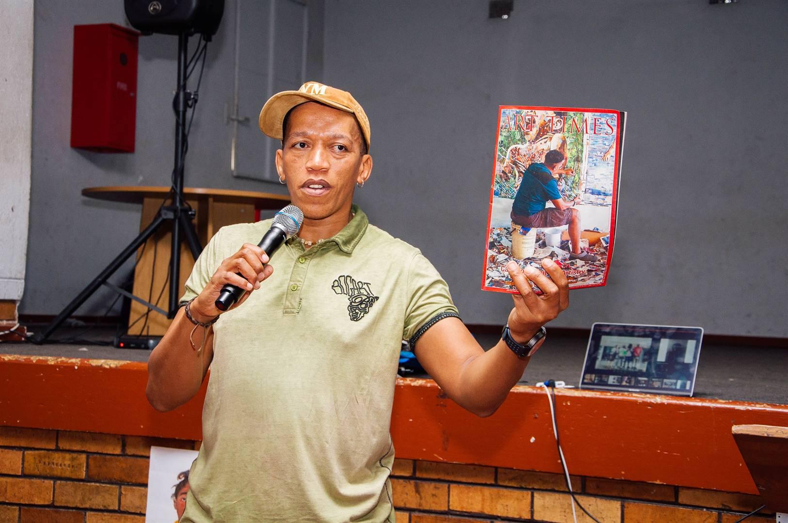 Vusi Mfupi at St Martins De Porres, for the Room 13 Inspiration Day in Soweto