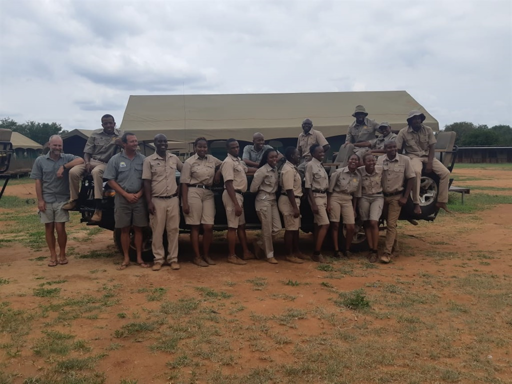 Candidates and their lecturers at the Tourvest Guide Academy at Makalali Private Game Reserve in Limpopo (Vanesa Banton, News24)