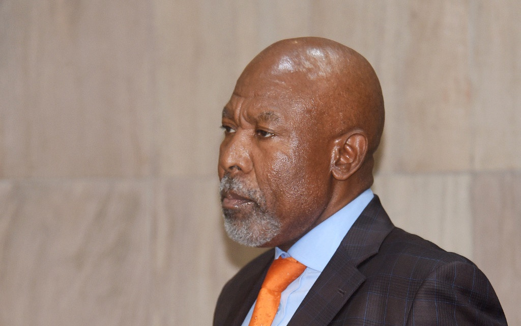 South African Reserve Bank Governor Lesetja Kganyago announces a repo rate cut at central bank's head office on January 16, 2020 in Pretoria.