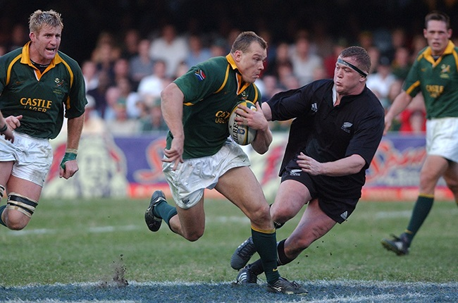 Dean Hall in action for the Springboks against the All Blacks at Kings Park in 2002. (Photo by Ross Land/Getty Images)