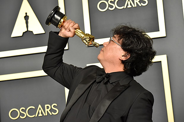 Writer-director Bong Joon Ho, winner of the Best Picture, Director, Original Screenplay, and International Feature Film awards for Parasite. (Photo: Jeff Kravitz/FilmMagic)