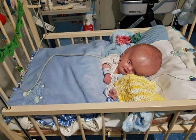 Lorenzo Pontone was diagnosed with severe hydrocephalus, a rare condition which causes fluid to build up in the skull and the brain to swell.