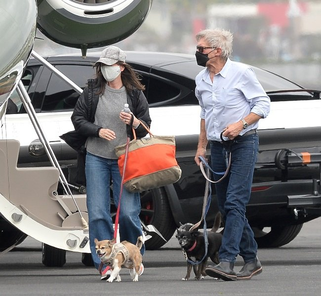 Calista Flockhart and Harrison Ford   (credit: The
