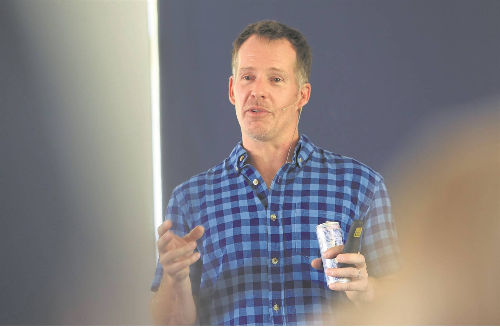 Steve McGown, who was held hostage for five years and eight months by Al-Qaeda in Mali, recently spoke to pupils of The Wykeham Collegiate about having a positive attitude and sticking to your goals. PHOTO: jackie clausen