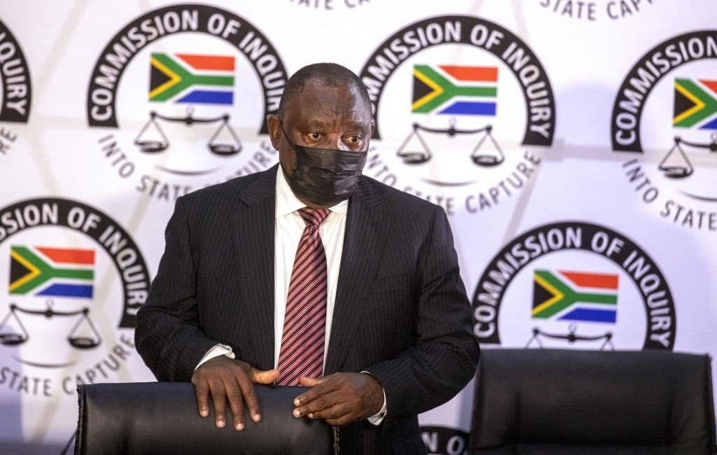 President Cyril Ramaphosa appears on behalf of the ANC at the Zondo Commission of Inquiry.