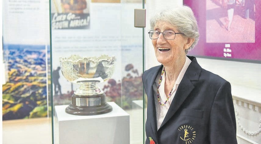 The late Betty Cavanagh at the opening of the Comrades Marathon Museum in 2016.PHOTO: supplied