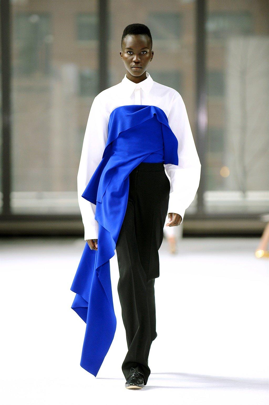 NEW YORK, NEW YORK - FEBRUARY 10: A model walks th