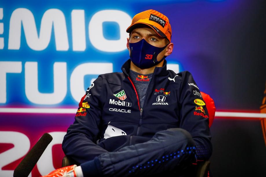 Red Bull's Max Verstappen during a press conference. Photo: FIA/Handout via Reuters
